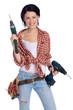 girl with drill - mädchen mit bohrmaschine