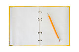 notepad and pencil poster
