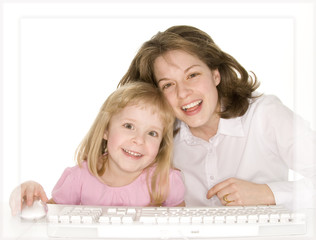 computer fun with mom