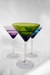 multicolored cocktail glasses