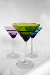 multicolored cocktail glasses