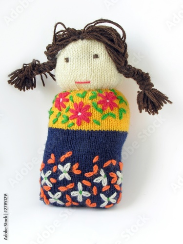 hand-made knitted woolen soft doll for clasping