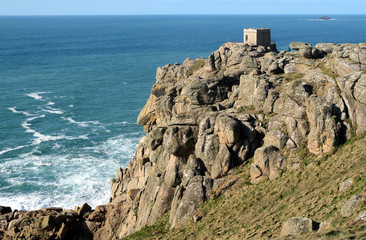 the old lookout on the cliffs above sennen cove, c