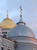 ancient christian cathedral cupolas poster