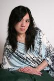 beautiful oriental woman reclined poster