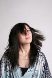 oriental swirling hair poster