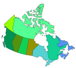 map of canada showing teritories