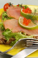 delicate salmon snack