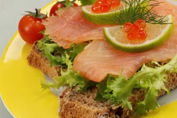 fresh salmon snack