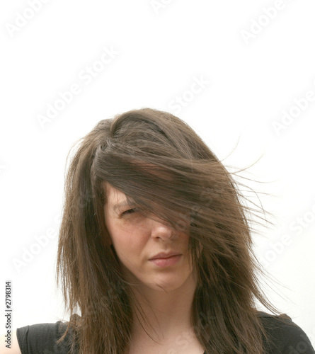 girl in wind
