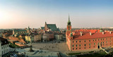 Fototapety castle square in warsaw, poland. panorama