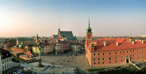 castle square in warsaw, poland. panorama