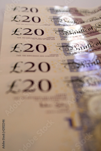poster of uk currency - notes