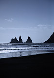 sea stacks iceland poster