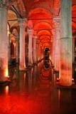 basilica cistern, istanbul, turkey poster