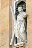 jesus christ holds cross poster