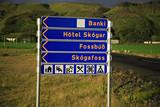 skogafoss signpost poster