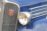 éclairage de vieille automobile poster