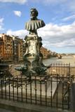 bust of benvenuto cellini on the ponte vecchio poster