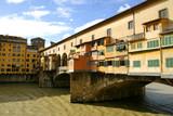 famous bridge ponte vecchio on arno river in flore poster