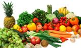 arrangement of  vegetables and fruits poster