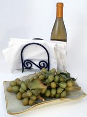 grapes wine & napkins