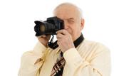 senior successful press photographer poster