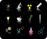 science icon set poster