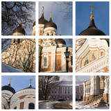 alexander nevsky cathedral - 3x3 grid poster