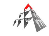 Fototapety abstract pyramid with red top