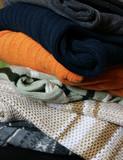 heap of winter woolen wear poster