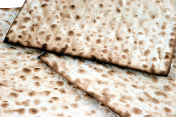 closeup of matzo