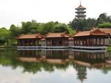 chinese pagoda & pavilion poster