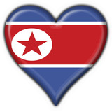 bottone cuore north korea button heart flag