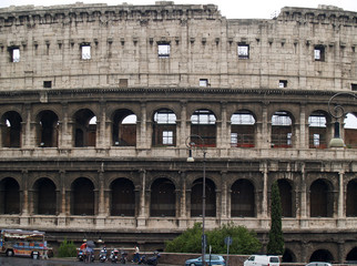 a closer view of colosseum in rome