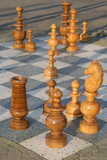 outdoor chess game 2 poster