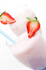light strawberry smoothie
