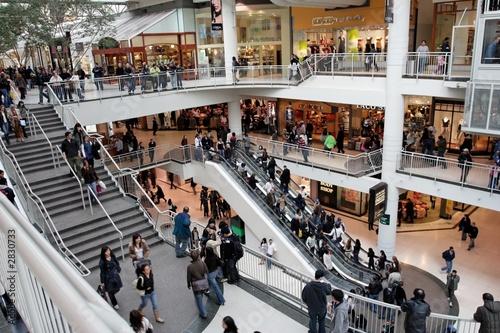 Leinwanddruck Bild busy shopping day