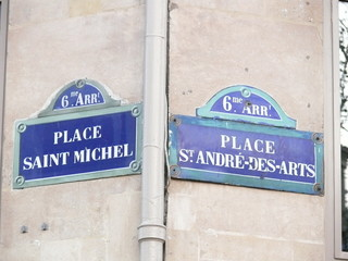 places  saint michel et st andré des arts.