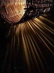 handmade twig lamp