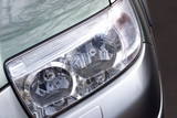 vehicle headlight close-up poster