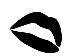lips b/w