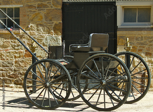 old style buggy.
