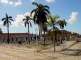 main square in trinidad cuba poster
