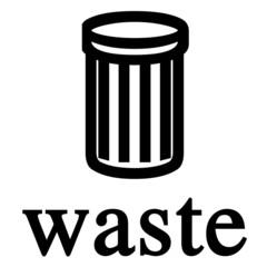 waste bin sign