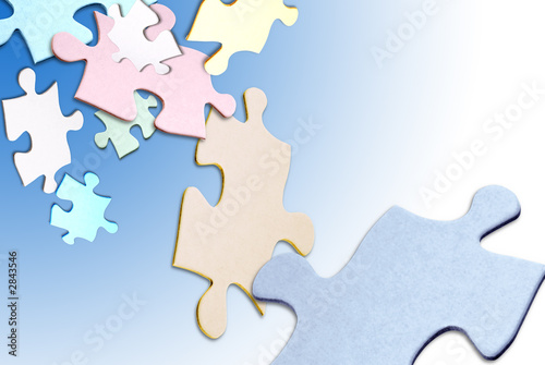 puzzle pieces floating