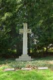 memorial cross grave marker at spring grove cemetery in cincinna poster