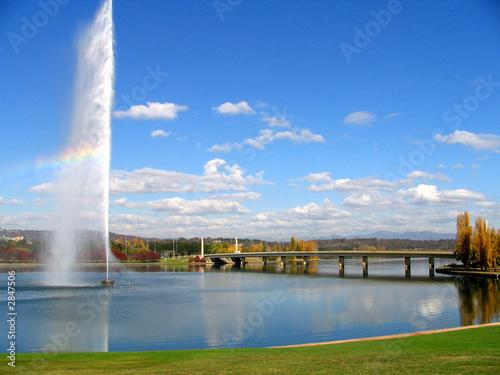 fountain on the lake - 2847506