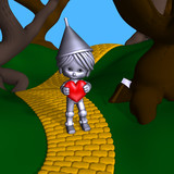 tin man offers his heart poster
