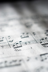 sheet music in black and white